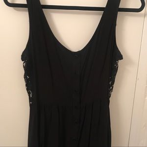 Black dress with lace sides